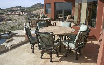 Sedona  Swivel Dining Chairs Copper Vein  finish Canvas Spa Sunbrella fabric, High end Patio furniture, resort style, Sedona patio, Rob and Stucky , outdoor furniture, Paddy�o, Arizona,  Phoenix, Scottsdale, Fountain Hills, Paradise Valley, Commercial grade, today�s swim, az, todays, sundrella, azpatios, Iron, Custom